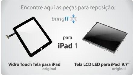 tela e vidro touch para iPad