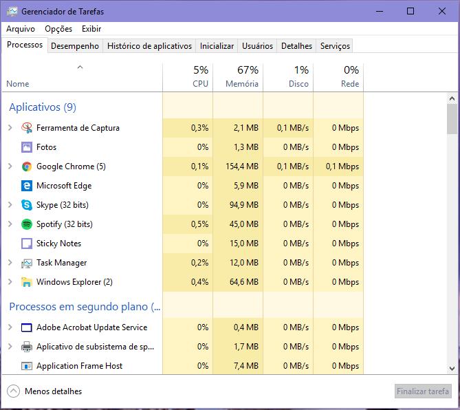 notebook lento o que fazer gerenciador de programas